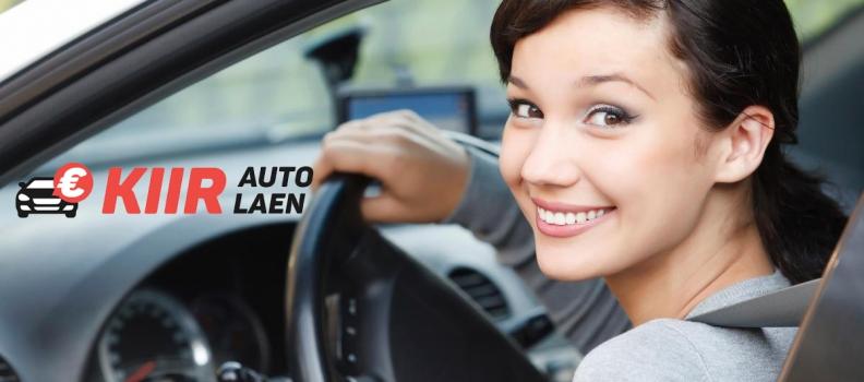 Autokooli laen auto tagatisel
